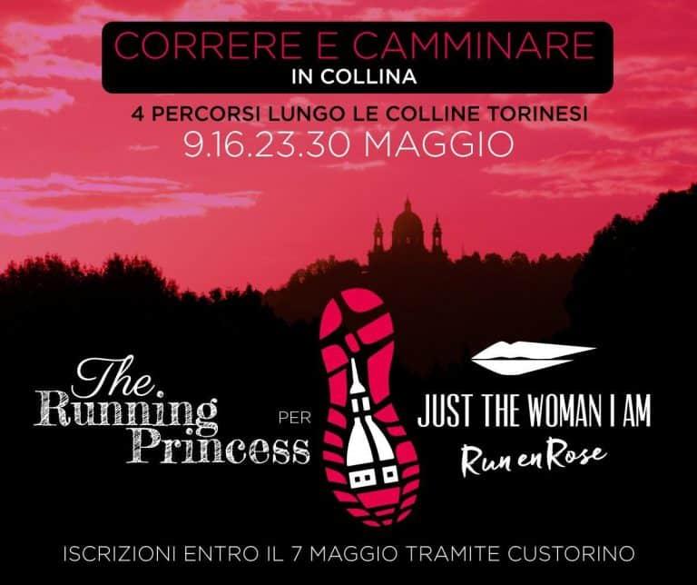 Locandina correre e camminare in collina the running princess per just the woman i am