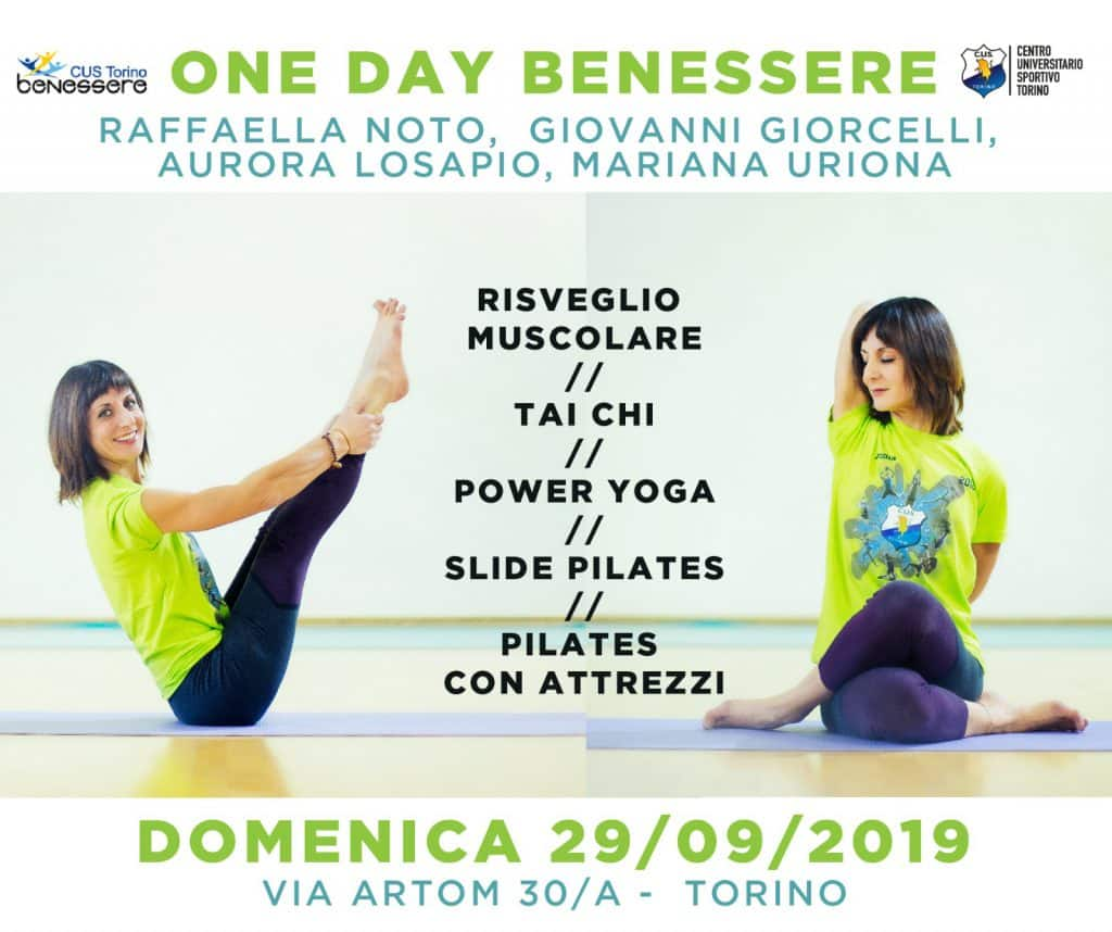 Locandina open day benessere